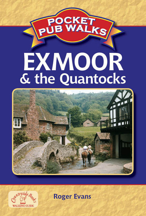 Pocket Pub Walks in Exmoor and the Quantocks book cover. Walking guide to best walks in the Exmoor countryside.