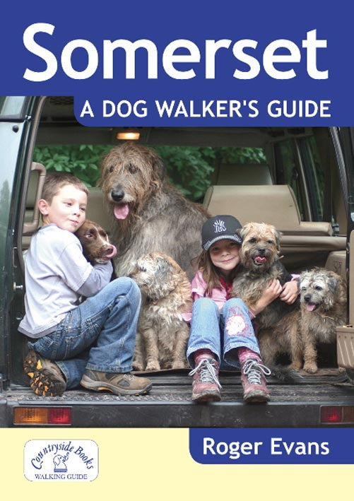 Somerset A Dog Walker's Guide book cover. Best local dog walks.