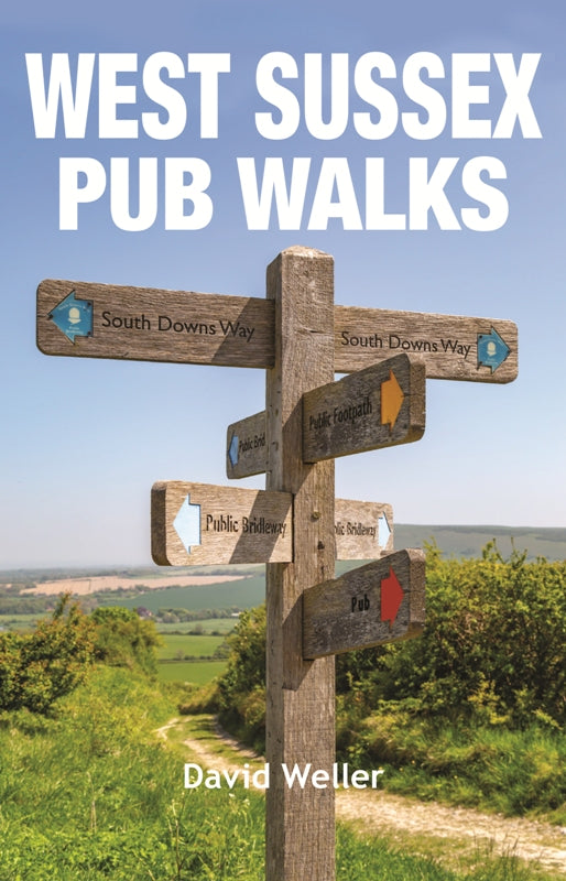 West Sussex Pub Walks front cover image.
