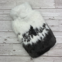 Photo of Black and White Fur Luxury Hot Water Bottle 151-3