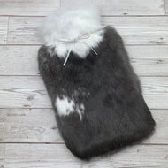 Photo of a dark brown hot water bottle cover 157
