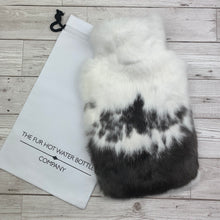 Photo of Black and White Fur Luxury Hot Water Bottle 151-2
