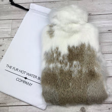 Real Fur Hot Water Bottle - Large - The Mottled Collection #142