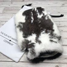 Real Fur Hot Water Bottle - Large - The Mottled Collection #147