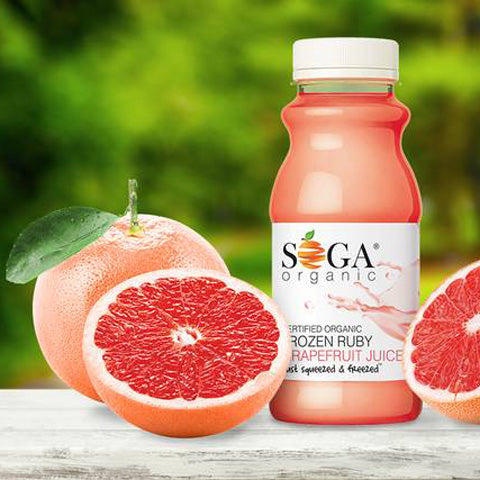 Soga Organic Frozen Ruby Grapefruit Juice 250ml