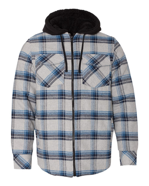 Quilted Flannel Full-Zip Hooded Jacket