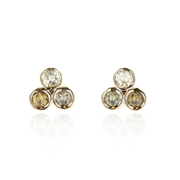 Tri Diamond Earrings