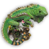 Iguana Jeweled Trinket Box with SWAROVSKI Crystals