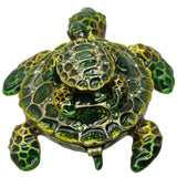 Turtle & Baby Jeweled Trinket Box with SWAROVSKI Crystals, by RUCINNI