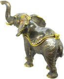 Elephant Jeweled Trinket Box with SWAROVSKI Crystals, by RUCINNI