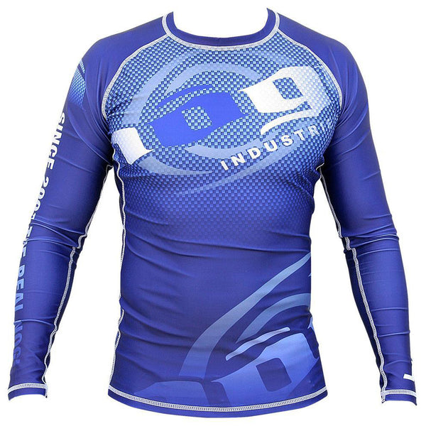 Carbon Long Sleeve Rashguard by Nogi Industries - NAVY - NoGi USA