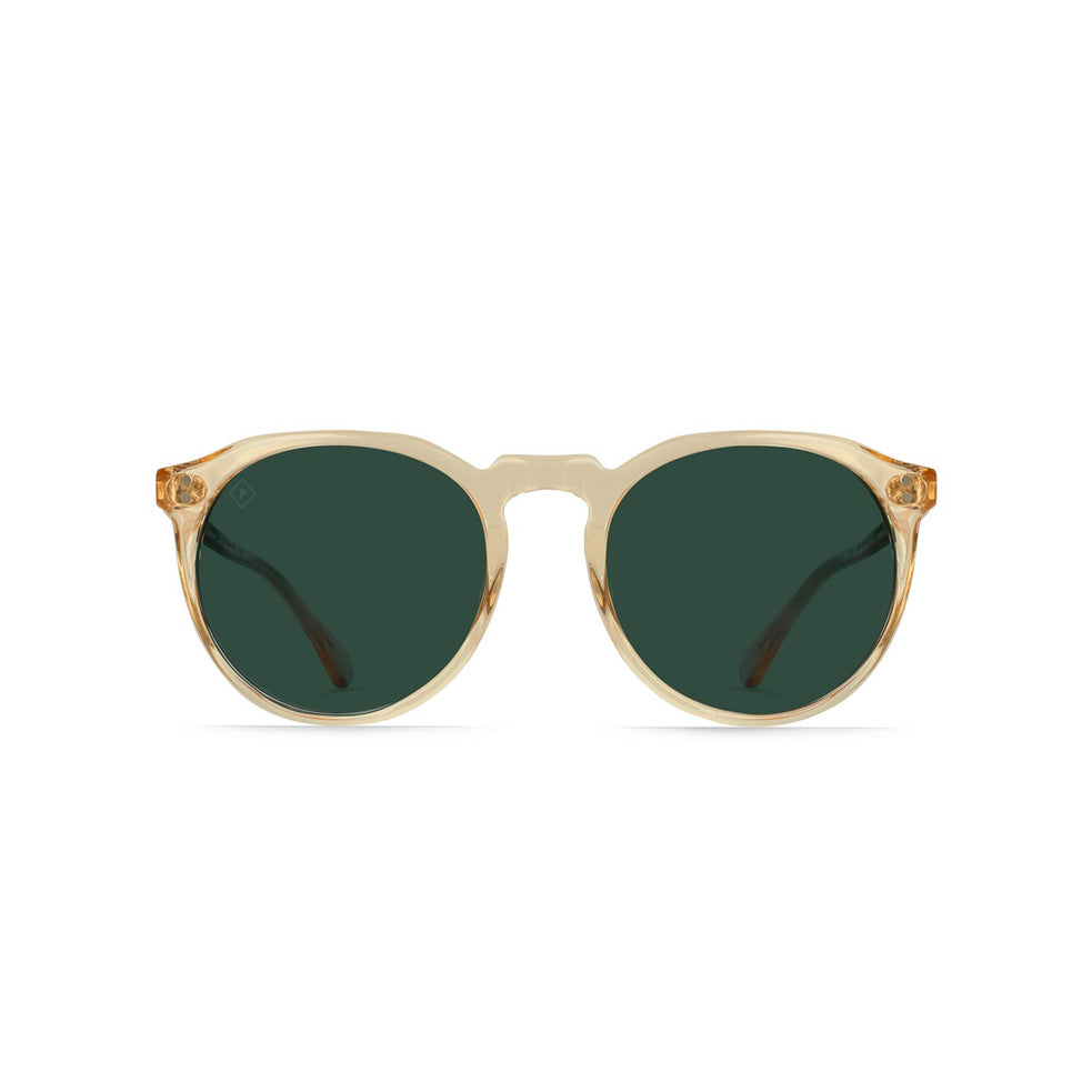 RAEN REMMY 49 Sunglasses Champagne Crystal/Green Polarized