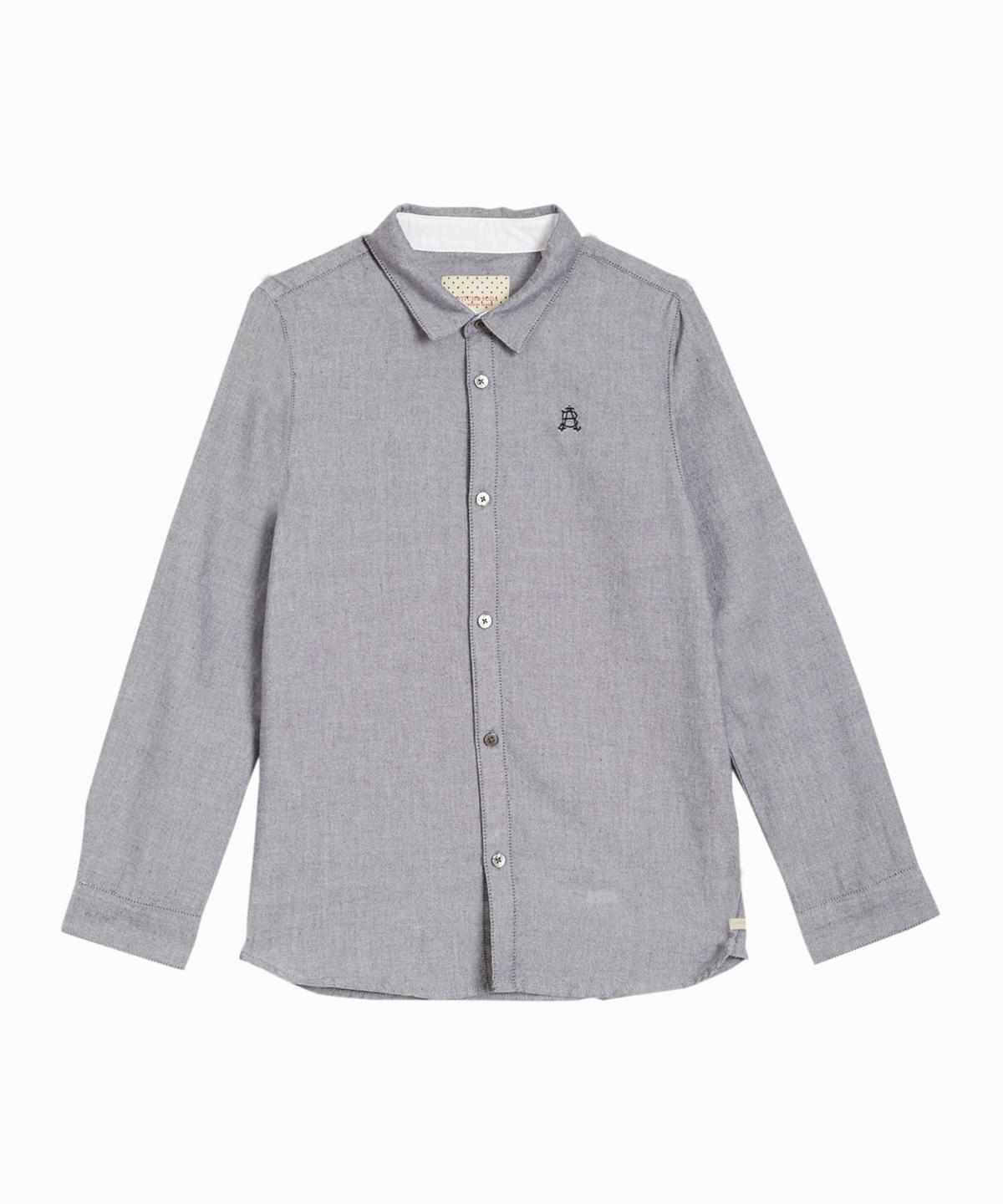 Clean Grey Oxford Shirt