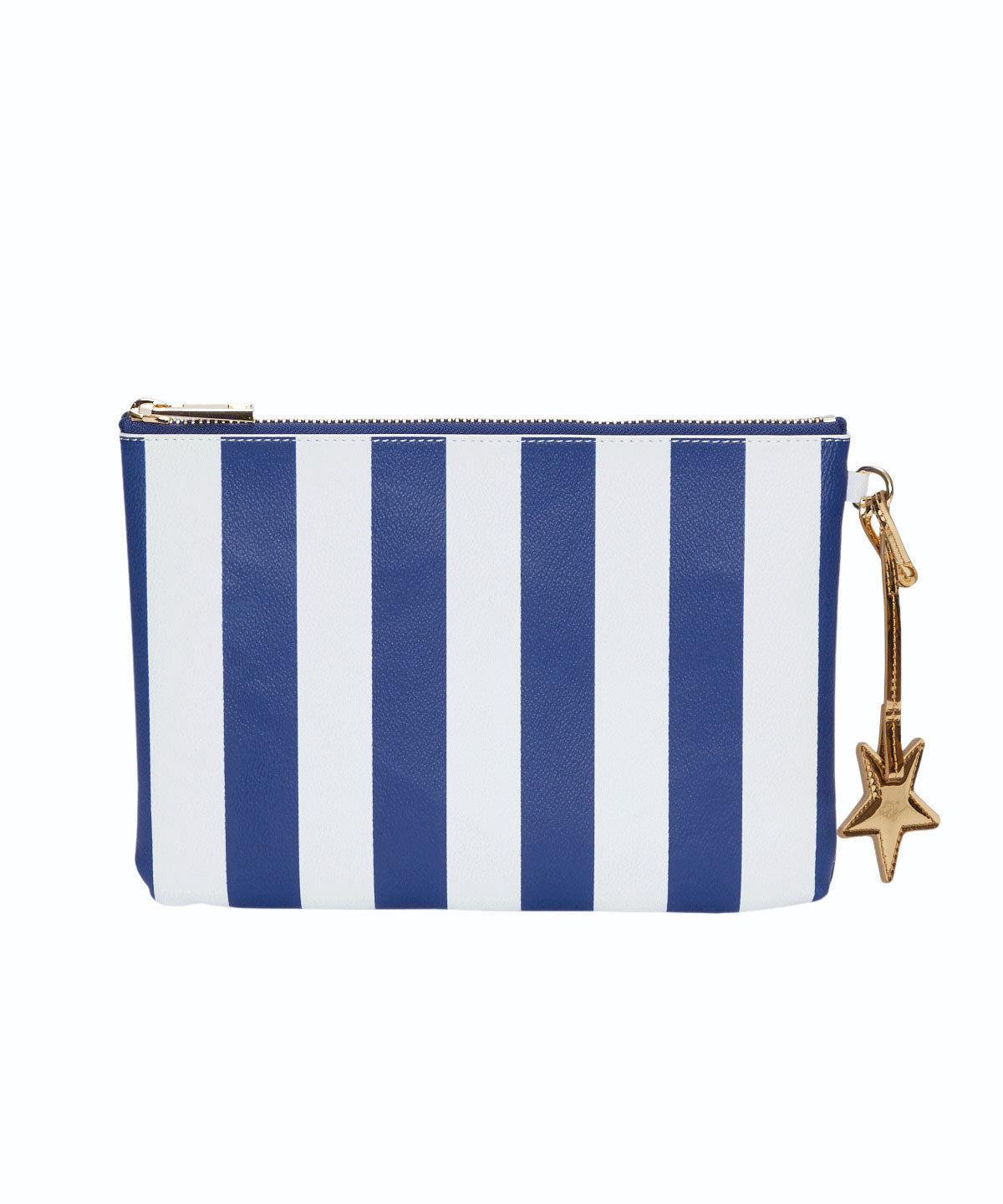 Exclusive Striped Print Star Charm Flat Pouch