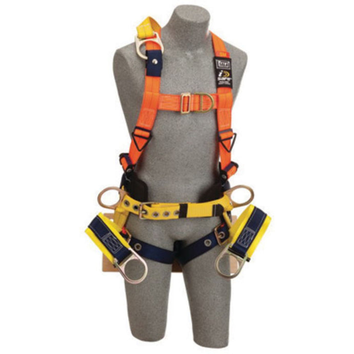 3M DBI-SALA 2X Delta No-Tangle Full Body Vest Style Harness With Back, Side And Front D-Ring With 18