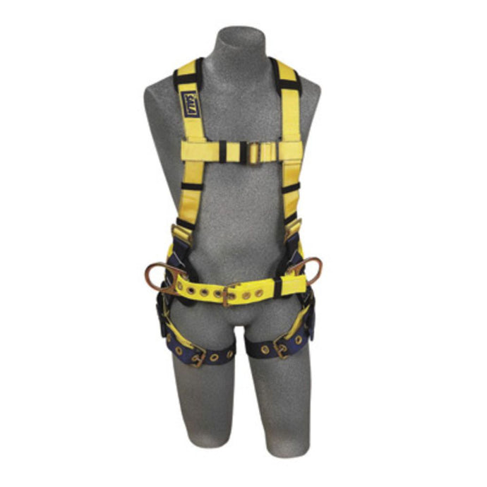 3M DBI-SALA 3X Delta II No-Tangle Construction Full Body Vest Style Harness With Back And Side D-Ring, Tongue Leg Strap Buckle, Body Belt With Sewn-In Pad And Shoulder Pad