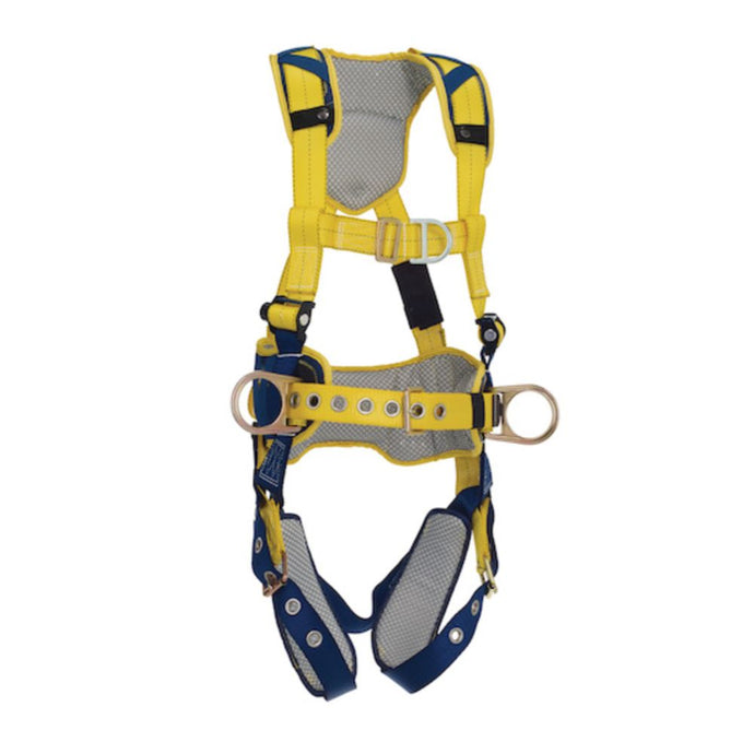 3M DBI-SALA Large Delta Full-Body Harness With Back, Front And Side D-Rings, Padded Belt And Tongue Buckle Leg Straps