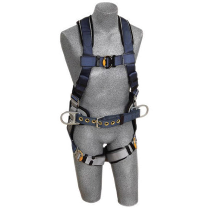 3M DBI-SALA 2X ExoFit Construction/Full Body/Vest Style Harness With Back And Side D-Ring, Belt With Sewn-In Pad, Quick Connect Chest And Leg Strap Buckle And Built-In Comfort Padding