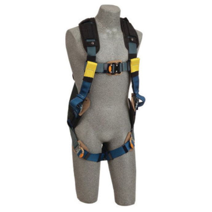 3M DBI-SALA Large ExoFit XP Arc Flash Full Body/Vest Style Harness With Back D-Ring, Web Rescue Loops, Quick Connect Chest And Leg Strap Buckle, Leather Insulators And Nomex/Kevlar Comfort Padding