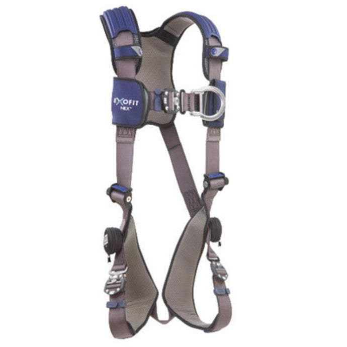 3M DBI-SALA 2X ExoFit NEX Climbing Vest Style Harness With Aluminum Back And Front D-Rings, Locking Quick Connect Buckle Leg Strap And Comfort Padding