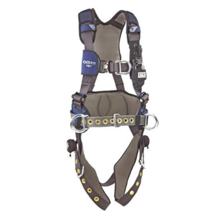3M DBI-SALA Small ExoFit NEX Climbing Wind Energy Positioning Harness With Aluminum Back Front And Side D-Rings, Locking Quick Connect Buckle Leg Strap, Comfort Padding And Wind Energy Belt With Pad