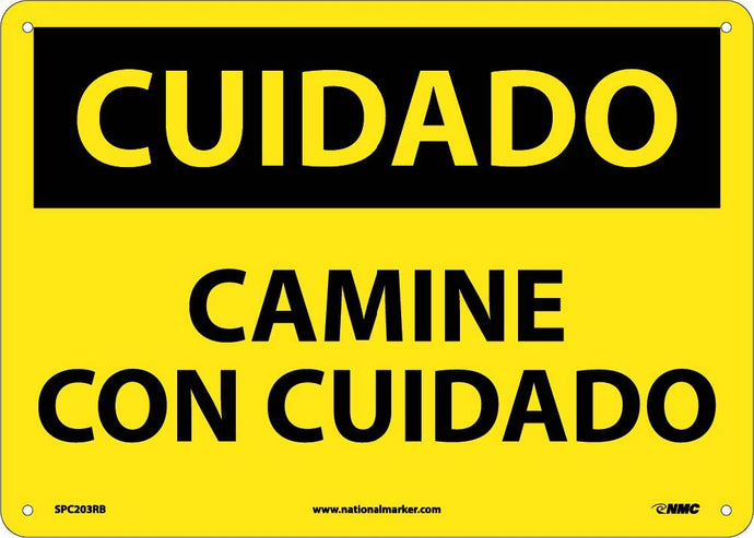 Caution Watch Your Step Sign - Spanish