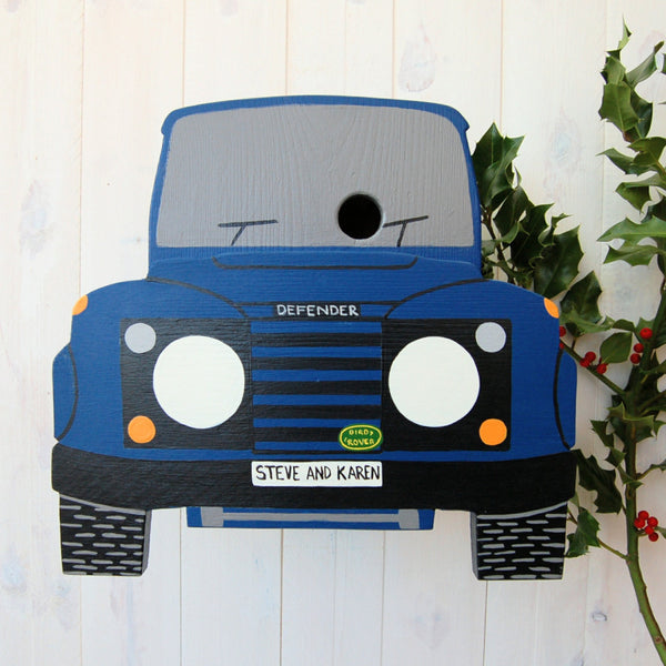 Personalised 4 Wheel Drive Bird Box - Lindleywood