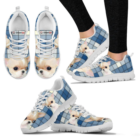 Chihuahua With 3D Blocks Women Running Shoes - Free Shipping