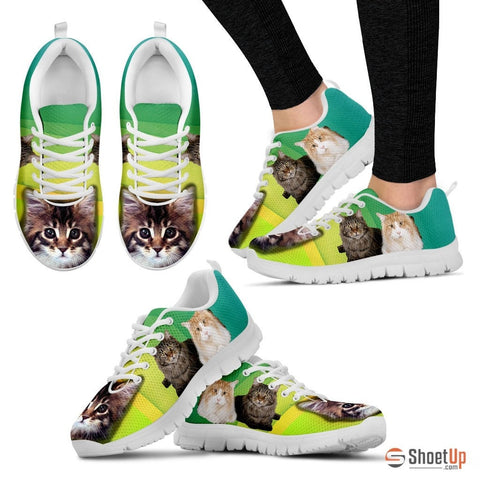 Maine Coon Kitty Women Running Shoes - Free Shipping