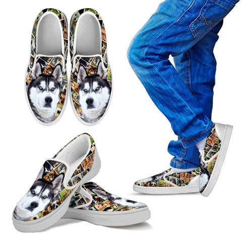 Amazing Siberian Husky Dog Print Slip On - Free Shipping