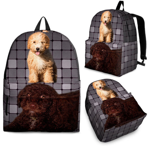 Spanish Water Dog Print Back Pack,