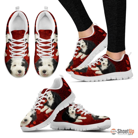 Old English Sheepdog Print Running Shoes - Free Shipping