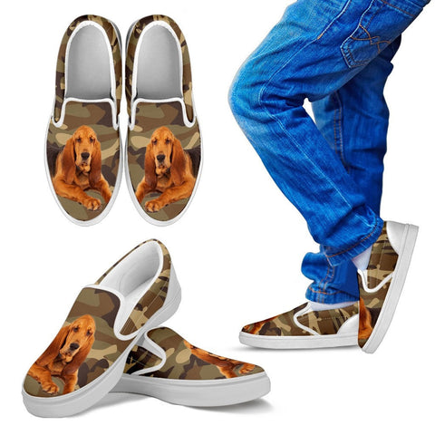 Bloodhound Dog Kids Slip On - Free Shipping