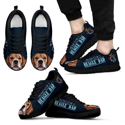 'Proud To Be A Beagle Dad' Men Sneakers Shoes - Free Shipping
