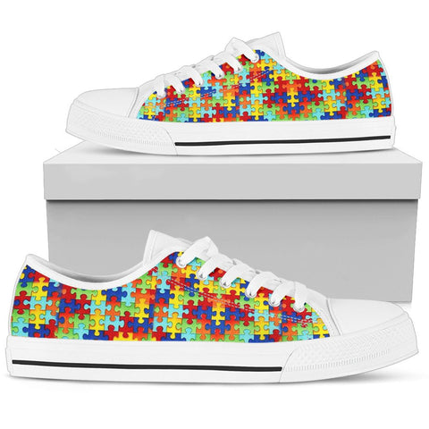 Autism Symbol Low Top Canvas High Tops- Free Shipping