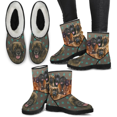 Leonberger Dog Women Fashion Boots- Free Shipping
