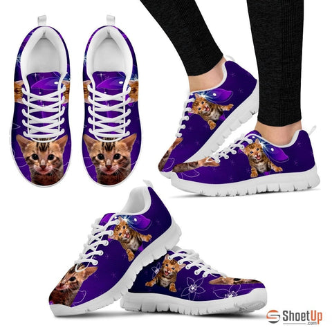 Lovely Bengal Cat Print Running Shoes - Free Shipping