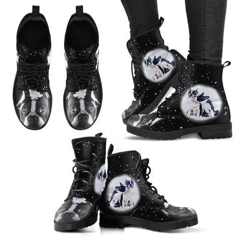 New Boston Terrier Women Suede Fashion Boots - Free Shipping