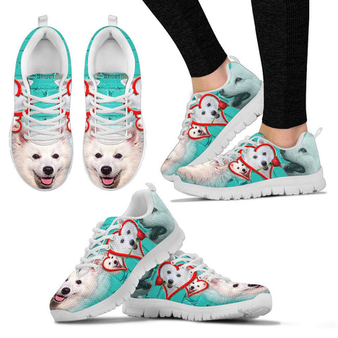 American Eskimo With With Rose Women Running Shoes - Free Shipping