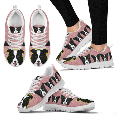 Lovely Border Collie Dog-Women's Running Shoes - Free Shipping