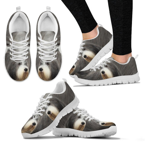 Shoetup - Bearded Collie Dog Print Running Shoes For Women