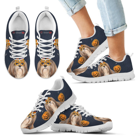 Lhasa Apso Happy Halloween Print Running Shoes - Free Shipping