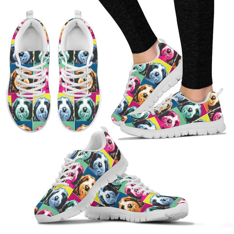 Bearded Collie Pattern Women Running Shoes - Free Shipping