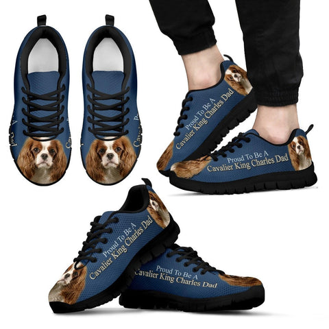 'Proud To Be A Cavalier King Charles Dad' Men Sneaker Shoes - Free Shipping