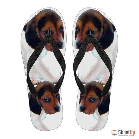 Beagle Puppy Flip Flops For-Free Shipping
