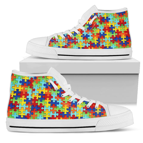 Autism Symbol High Top Canvas High Tops- Free Shipping