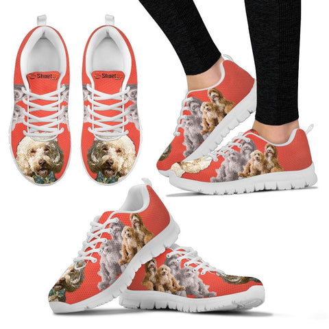 Labradoodle With Bow Tie Print Running Shoes - Free Shipping