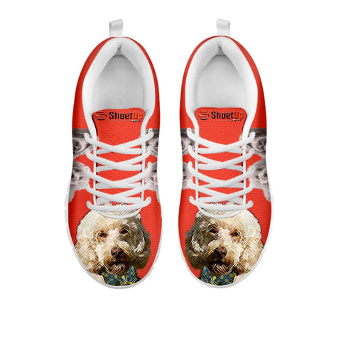 Shoetup - Labradoodle With Bow Tie Print Running Shoes For Women