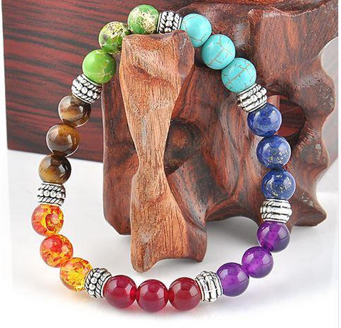 Image of bracelet 7 chakras pierres naturelles signification