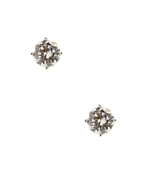 Zoom view for Round Cubic Zirconia Stud Earrings
